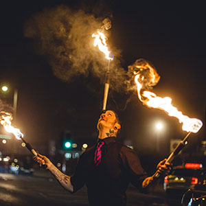 fire jugglers sapphire northern ireland